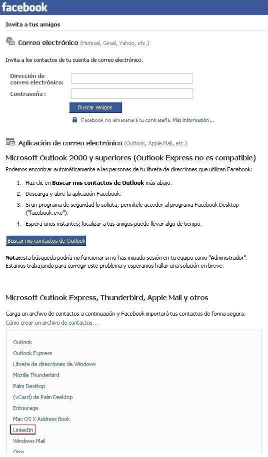 facebook-contactos